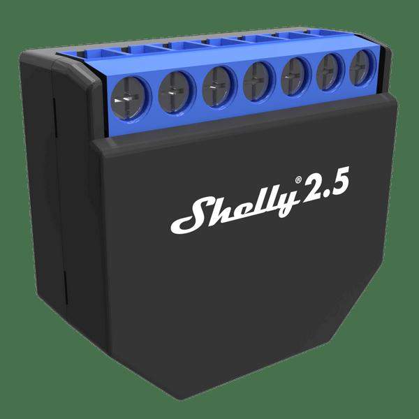 Двухканальное Wi-Fi реле Shelly2.5