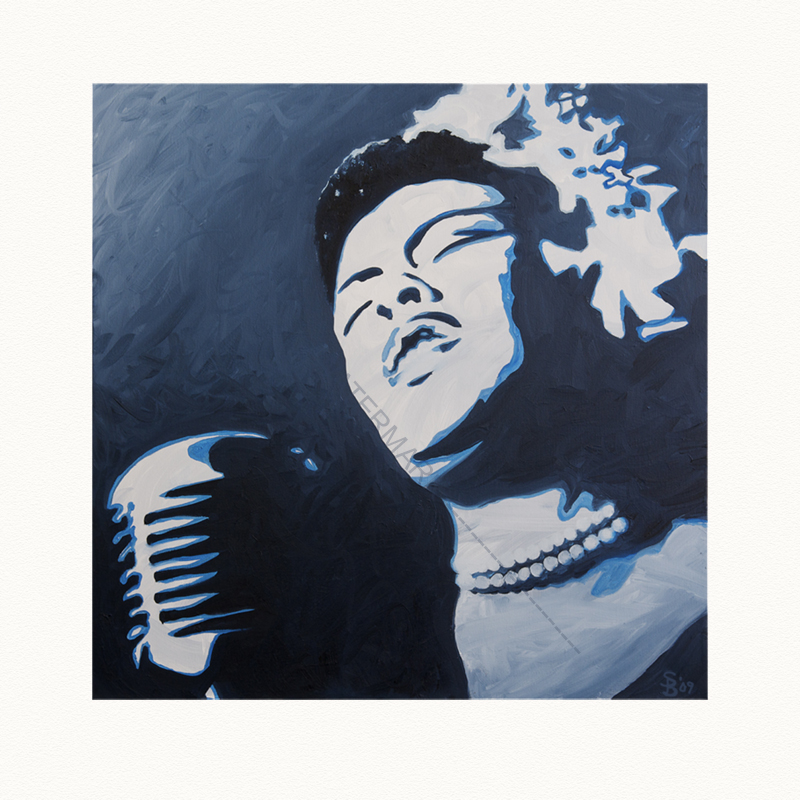 Oil Painting of Billie Holiday by Shelly Bowen, available as print at Shellybees.com
