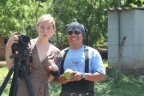 Our film crew. Videographer and artist, Ansley West. Driver & team member extraordinaire Juan Pablo.
