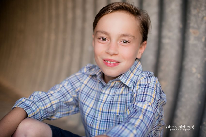 headshot of 10 year old boy - frisco, tx