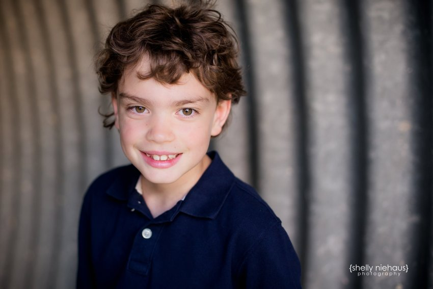 headshot of 9 year old boy - frisco child photographer