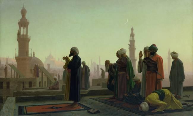 The Prayer by Jean-Leon Gerome
