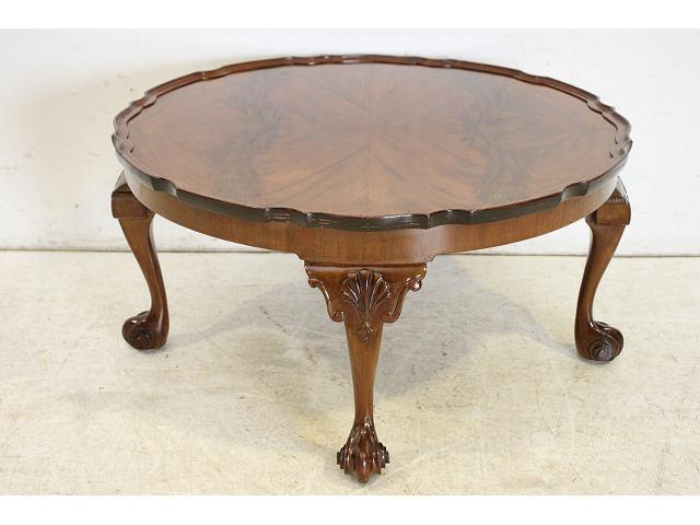 1940年代イギリス製アンティーク マホガニー ビクトリアンスタイルのローテーブル