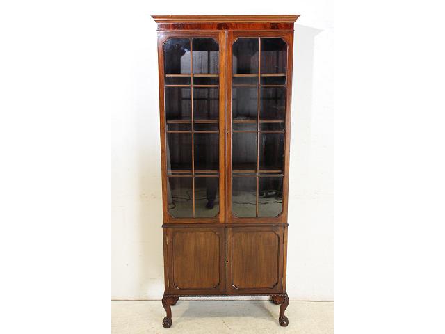 1960年代イギリス製アンティーク チッペンデールスタイル マホガニー材の書棚