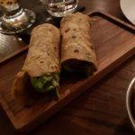 Lamb Kofta Roll, with mint and coriander salad