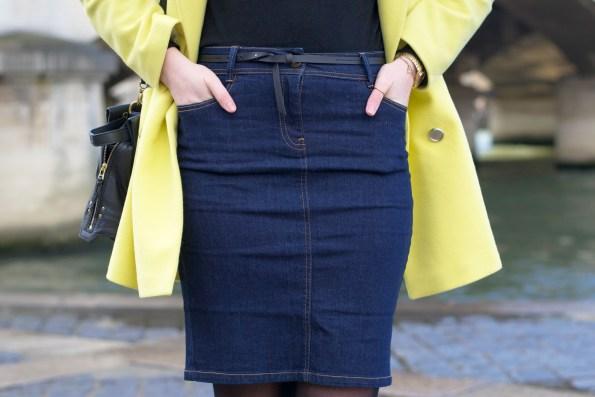 manteau jaune nafnaf