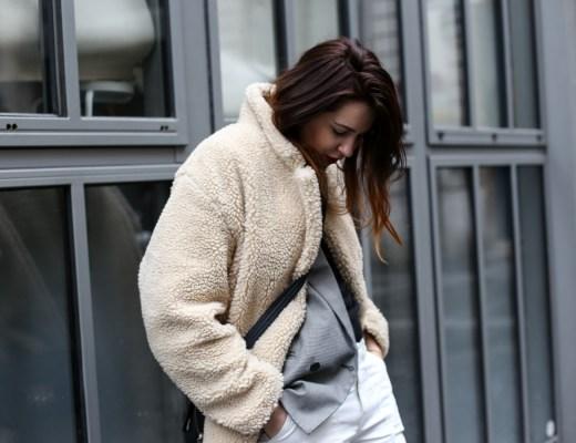 moumoute, jean blanc, blazer, hm, boots, georgia rose
