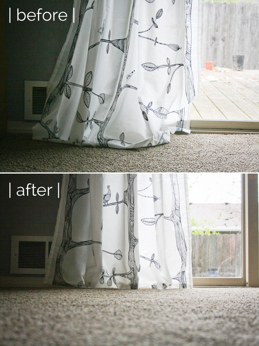 How To Hem Curtains Without Sewing – SHE LOVES HAPPY