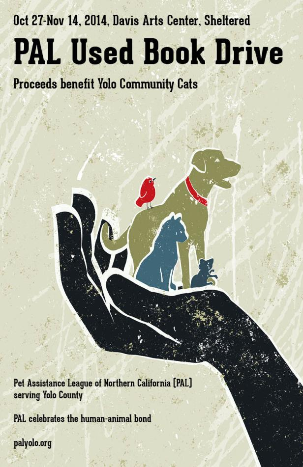 Oct 27-Nov 14, Davis Arts Center, Sheltered. All proceeds from processed books benefit Yolo Community Cats.