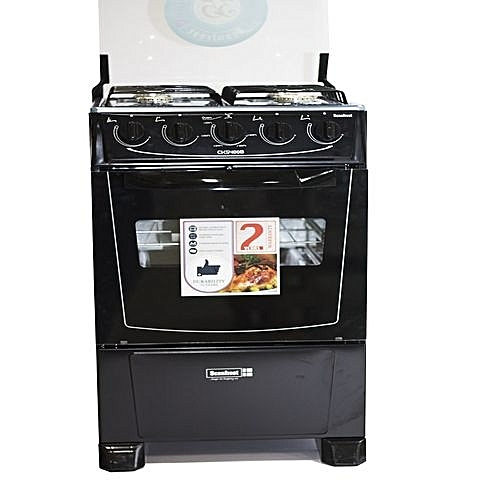 CK5400NG – Scanfrost Gas Cooker 4 Burners Black
