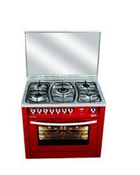 PRG96G2G – 90X60 CMS BURGUNDY RED 5 BURNERS SEMI PROFESSIONAL COOKER