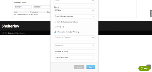 small resolution of once you ve completed all fields and clicked save a new tab will open in your browser for the label to print the label click the small print label