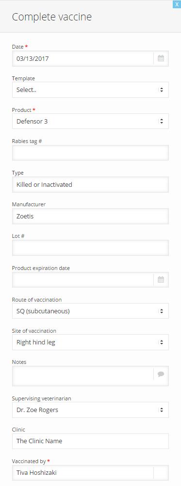 How do I add a vaccine?