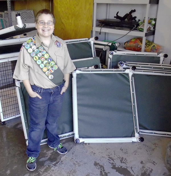 13-Year-Old Donates Homemade Dog Beds To Animal Shelter To Earn Eagle Scout Award