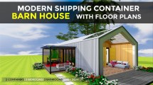Shipping Container 3 Bedroom Barn House Design Floor
