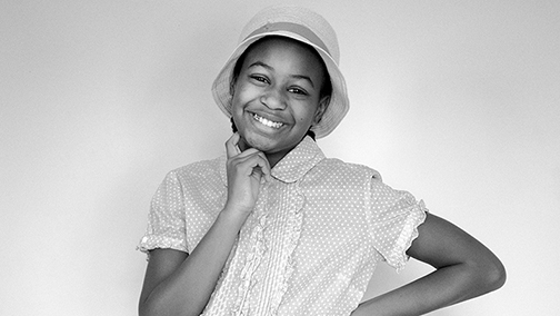 Georgia as Moms Mabley (Loretta Mary Aiken)