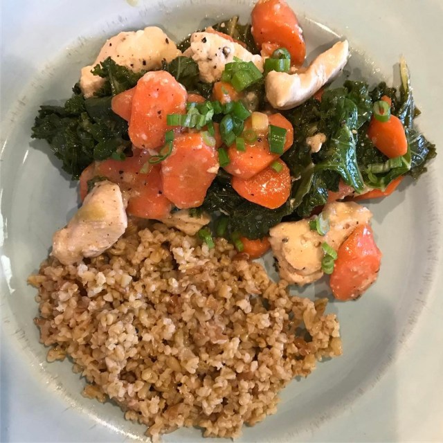 End result MisoButter Chicken with Freekeh amp sauted carrots! Ithellip