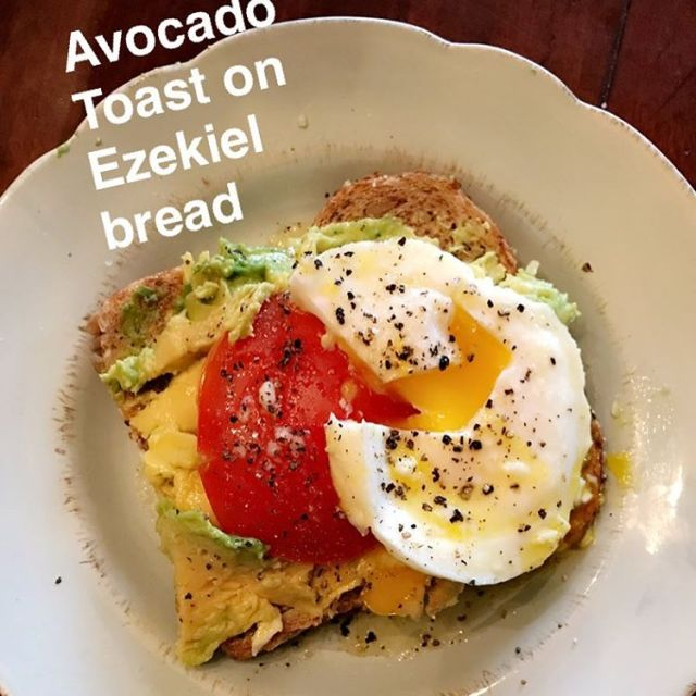 Whats for breakfast? Avocado toast with a poached egg tomatohellip