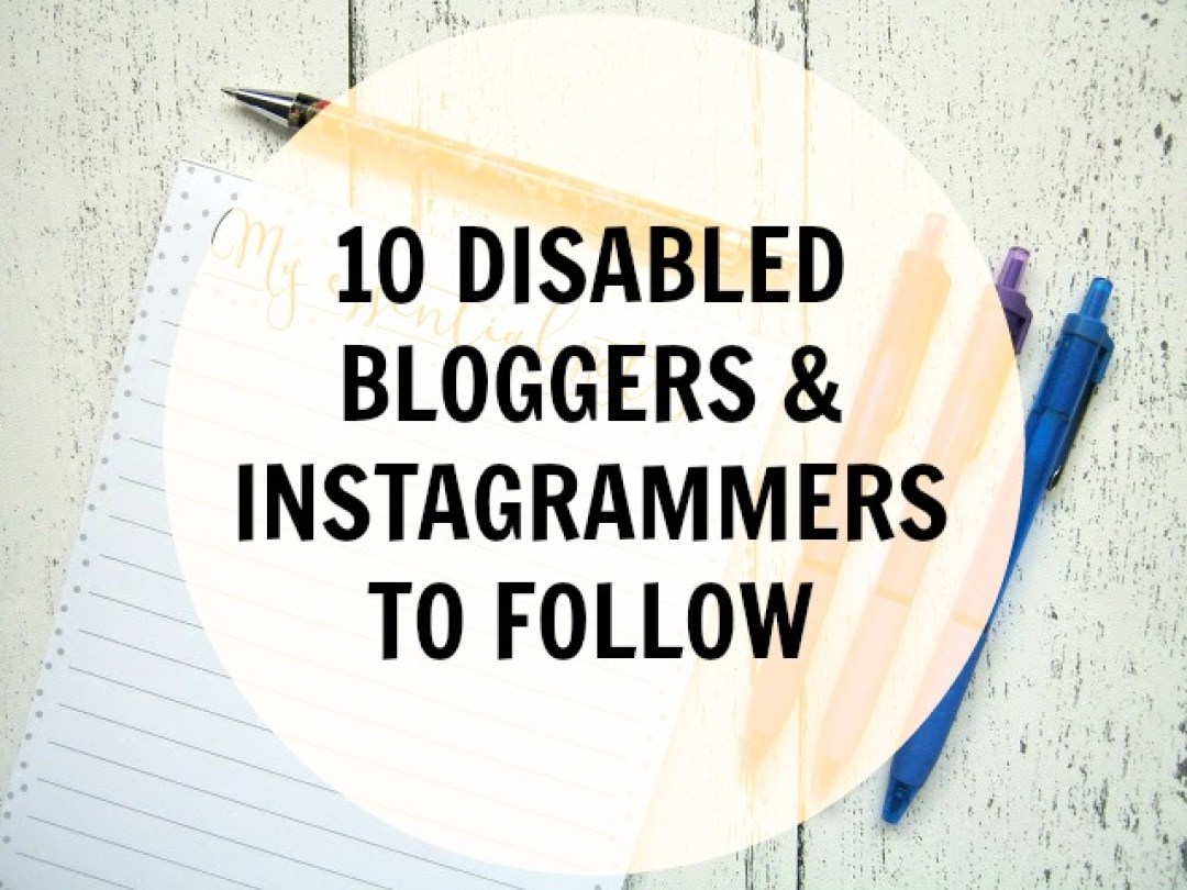 disabled bloggers