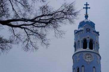 Bratislava Blue Church's bell tower