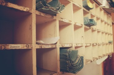 Pigeonholes and blue books