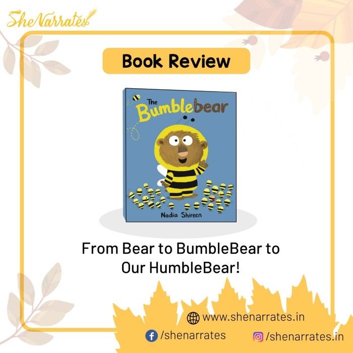 Autumn good reads picture book for children and Book review of The Bumblebear by Nadia Shireen
