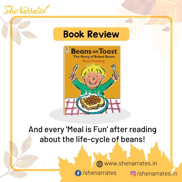 Autumn reads for children and Book review of Beans on Toast - The story of Beans by Paul Dowling
