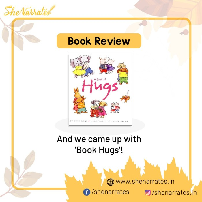 Autumn reads for children and Book review of A Book of Hugs by Dave Ross
