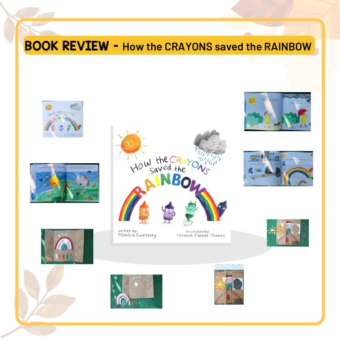 Book Review of 'How the crayons saved the Rainbow' by Monica Sweeney