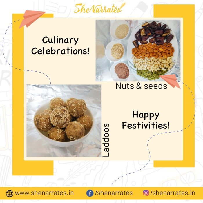 Festivity Delights with some Laddoos made of Nuts and seeds. Happy Culinary Celebrations!