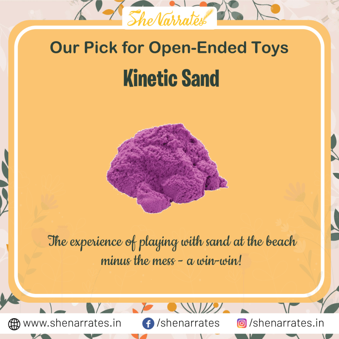Open ended toys for kids- Sand and Kinetic Sand