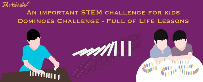 STEM challenge- Dominoes challenge for Kids