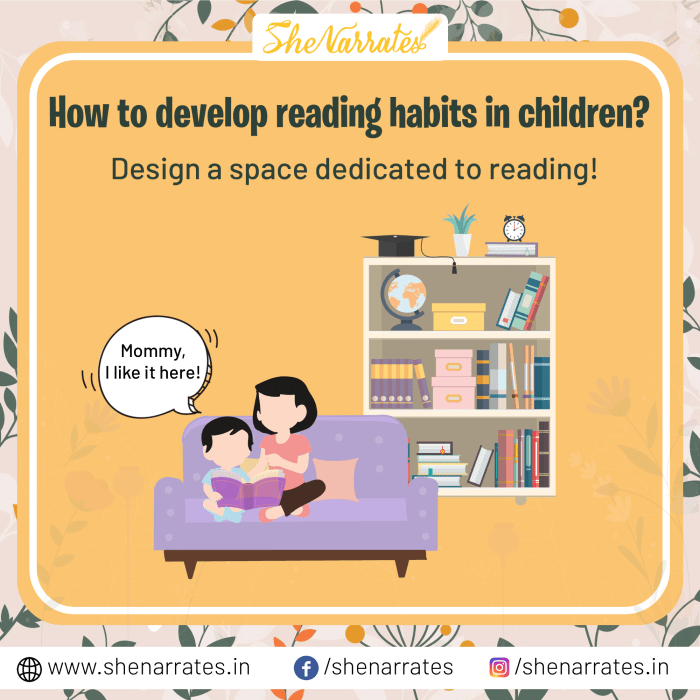 How to develop reading habits in children? A dedicated space for reading is really helpful