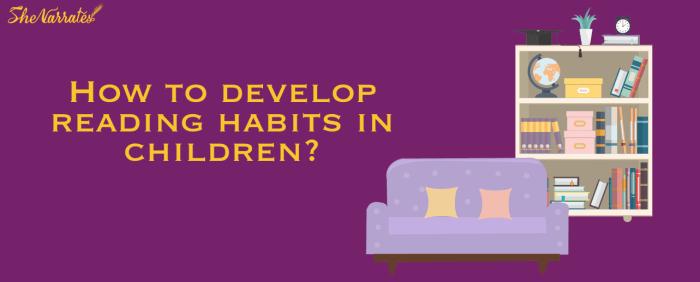 5 ways to develop reading habits in children
