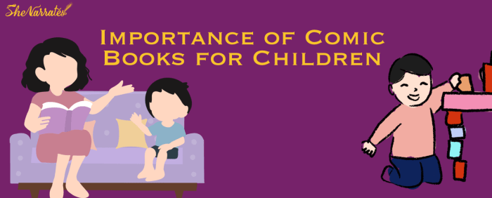 Importance of Comic Books reading for Children. Powerful benefits of reading comic books.