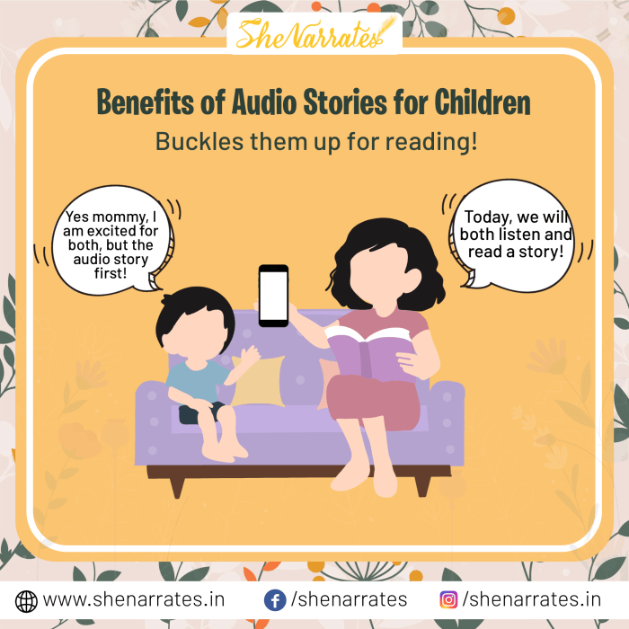 There are numerous Benefits of Audio Stories for Children and one of them is Audio Stories Buckles children up for reading.