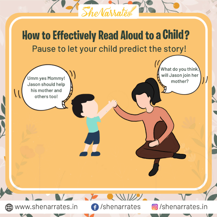 Fourth step or anytime during a read aloud time pause to let your child predict the story whenever you feel inspired to ask questions.