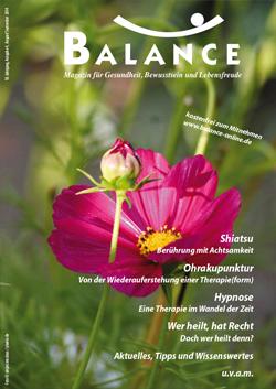 August/2014-Ausgabe der Zeitschrift Balance