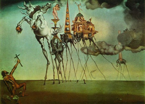 The Temptation of Saint Anthony by Dali