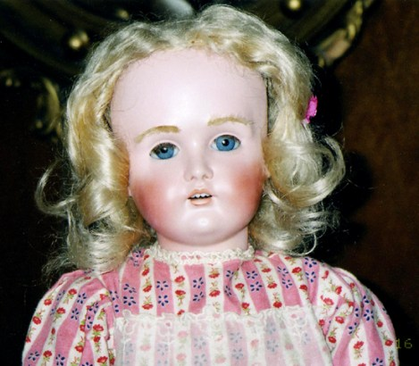 Restored Bisque Head Doll