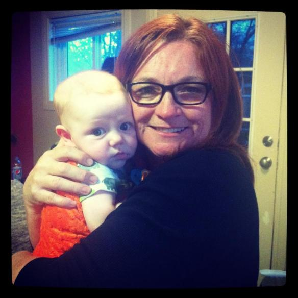 Cousin Margy and Handsome Grandson, Maverick