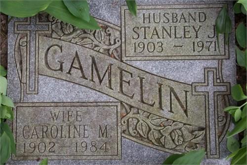 Great Auntie Caroline May Elliott resting along side her husband, Stanley Gamelin