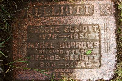 My paternal great grandparents: Mabel Burrows and George Elliott