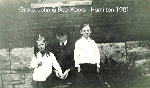 Grampa John Moors with his sister Grace and Brother Bob