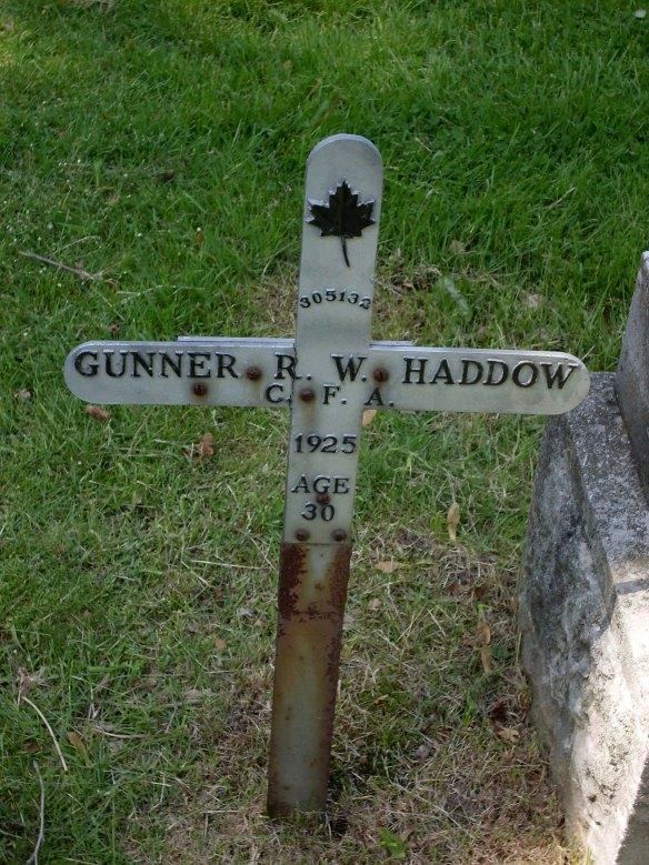 Walter Haddow Memorial Hamilton on York Street Family monument to right