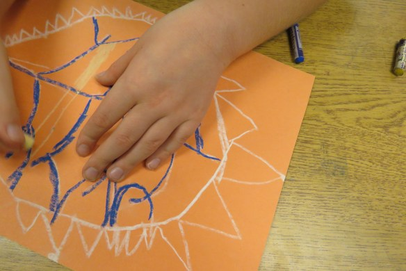Kath's Canon October 9, 2015 Contoured Leaves Elementary Art 004