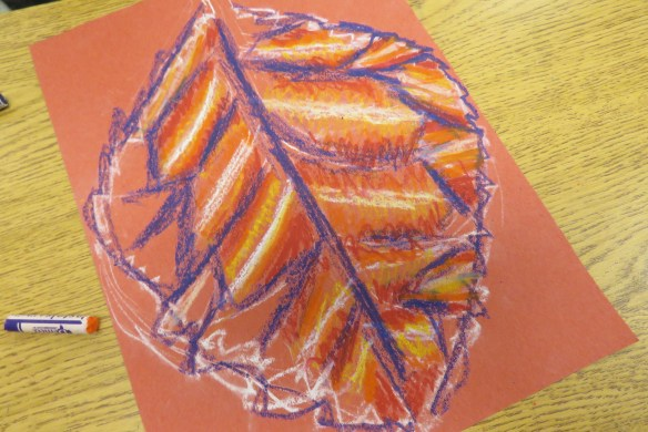 Kath's Canon October 9, 2015 Contoured Leaves Elementary Art 005