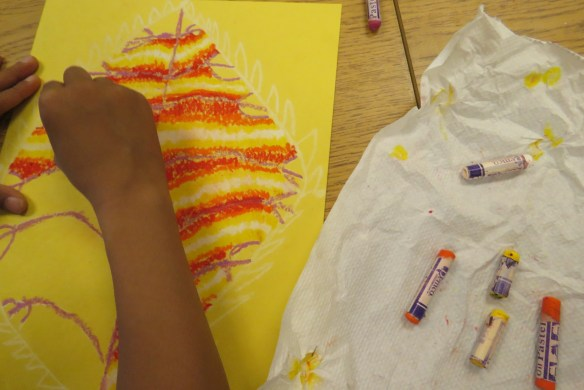 Kath's Canon October 9, 2015 Contoured Leaves Elementary Art 018