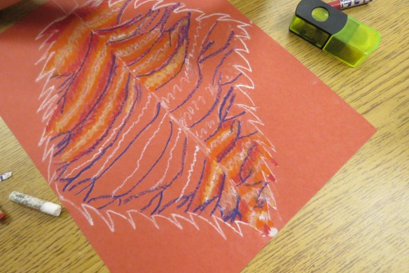Kath's Canon October 9, 2015 Contoured Leaves Elementary Art 020