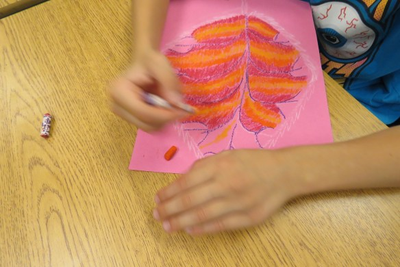 Kath's Canon October 9, 2015 Contoured Leaves Elementary Art 023